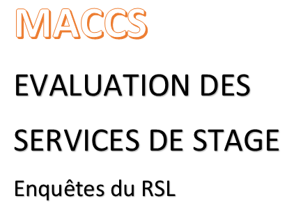 Evaluation des services de stage 2018-2019